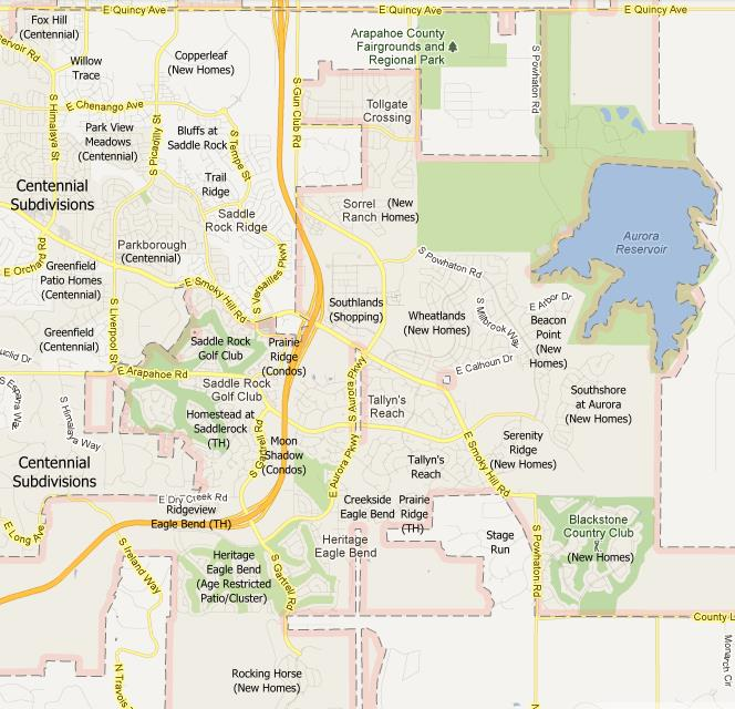 Aurora Colorado Subdivisions Map and Subdivions List | Denver Home