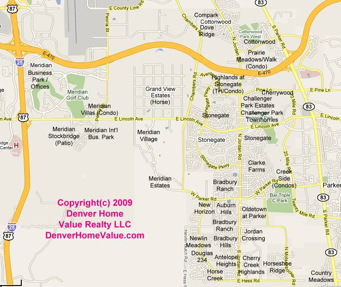 Parker Colorado Residential Subdivisions Map And List
